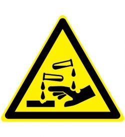 Waarschuwing bijtende stoffen