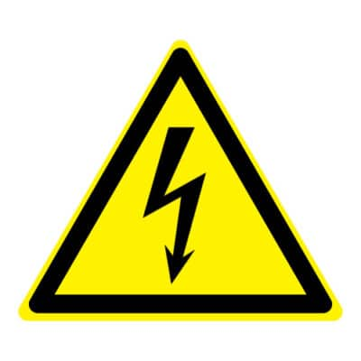 Waarschuwing elektrische spanning