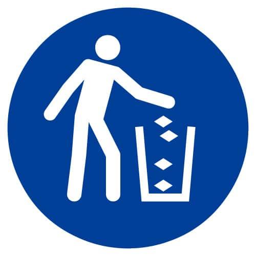 Gebruik vuilnisbak