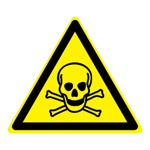 Waarschuwing giftige stoffen