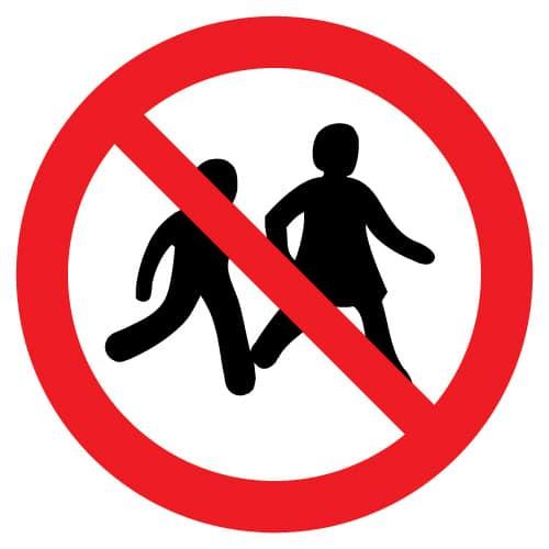 Kinderen niet toegestaan
