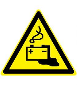 Waarschuwing gevaren door laden van accu's