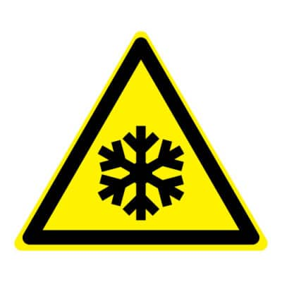 Waarschuwing lage temperatuur