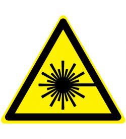 Waarschuwing laserstraal