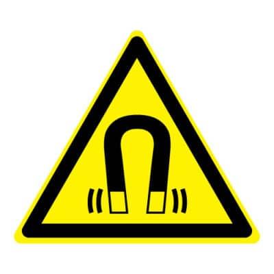 Waarschuwing magnetisch veld