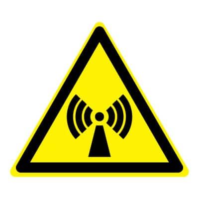 Waarschuwing niet-ioniserende straling