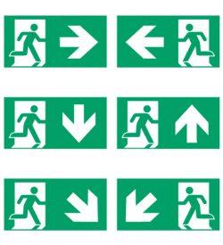 Nooduitgang pictogrammen