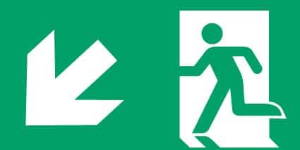 Nooduitgang links onder