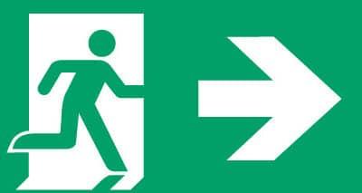 Nooduitgang rechts