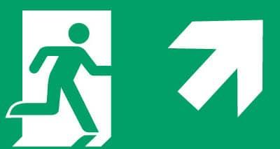 Nooduitgang rechts boven