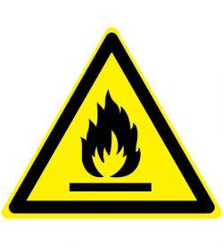 Waarschuwing ontvlambare stoffen