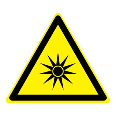 Waarschuwing optische straling