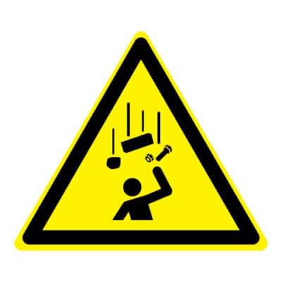 Waarschuwing vallende voorwerpen
