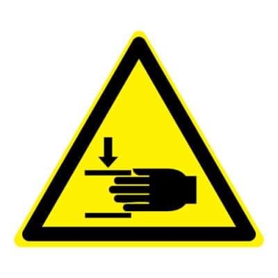 Waarschuwing verwondingen aan de hand