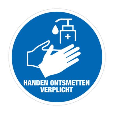 handen ontsmetten verplicht