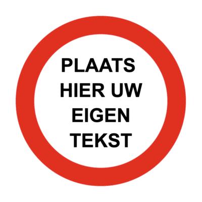 cirkel met tekst
