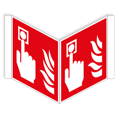 Brandmelder panoramisch bordje