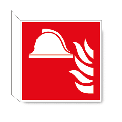 Brandbestrijdingsmiddelen haaks bordje