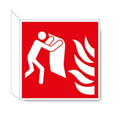 Branddeken haaks bordje