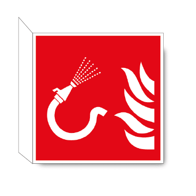 Brandslang haaks bordje