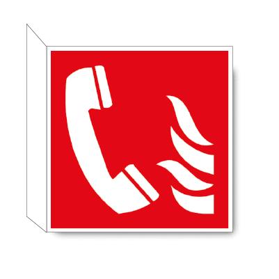 Noodtelefoon haaks bordje