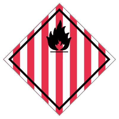 IMO label brandgevaarlijke stof