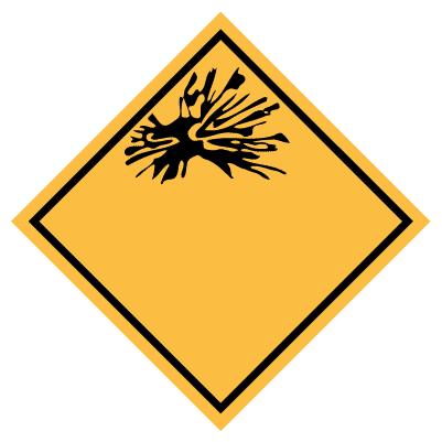 IMO label explosief