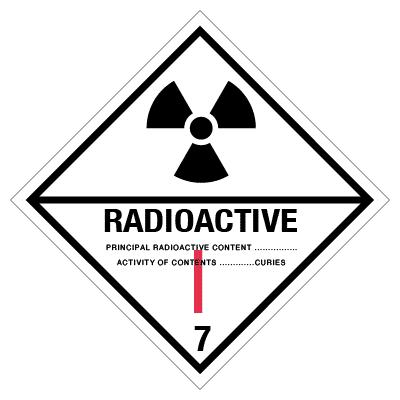 IMO label radioactive 1
