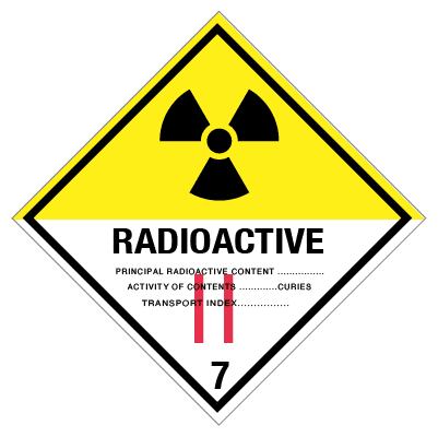 IMO label radioactive 2