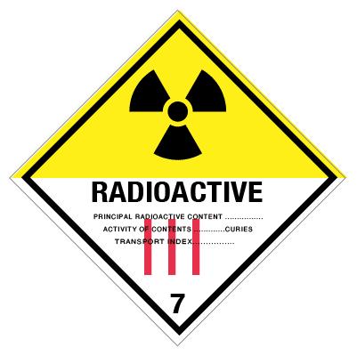 IMO label radioactive 3