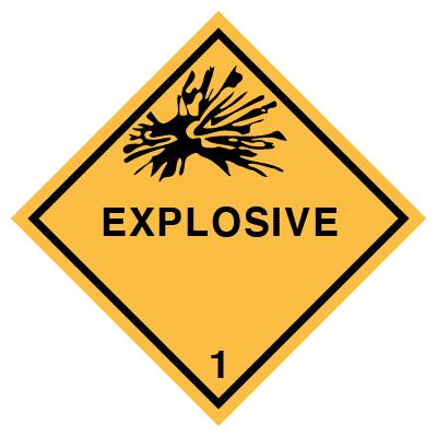 IMO label explosive