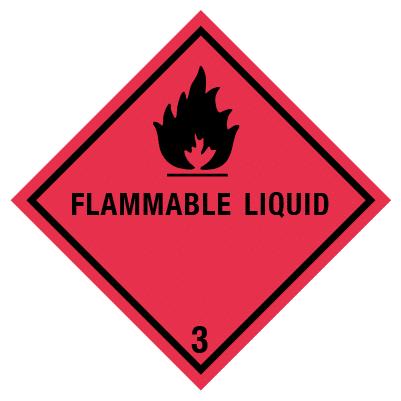 IMO label flammeble liquid