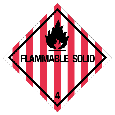 IMO label flammable solid