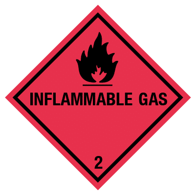 IMO label inflammable gas
