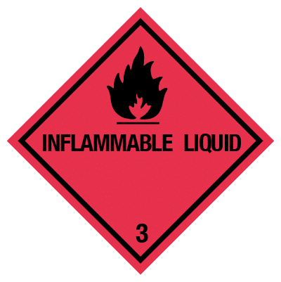 IMO label inflammable liquid