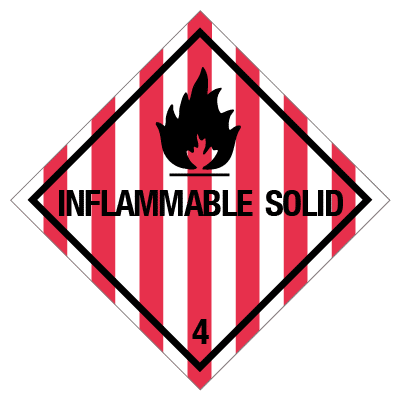 IMO label inflammable solid