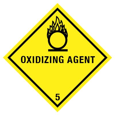 IMO Label oxidizing agent 5