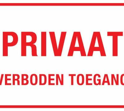 Privaat verboden toegang