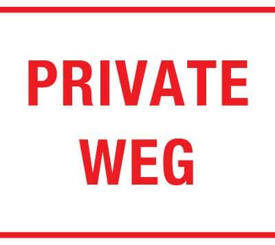 private weg