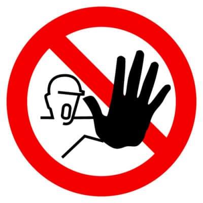 verboden voor onbevoegden