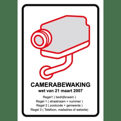 camerabewaking met eigen tekst